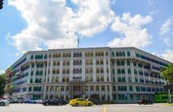 Singapura, em abril de 2017: O ministério de informação, de comunicação & da construção de MICA das artes em Singapura imagens de stock