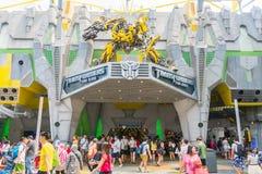SINGAPURA - JULHO 20,2015: TRANSFORMADORES o passeio: Os 3 finais Imagens de Stock