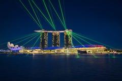 Singapura & luzes fotos de stock