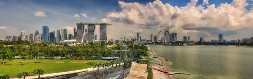 Singapura Marina Barrage foto de stock