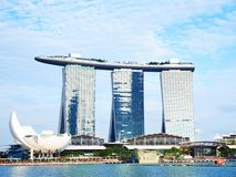 Singapura Marina Bay Sands Foto de Stock