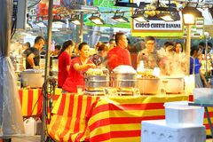 Singapura: Mercado Pasar Malam da noite Imagem de Stock