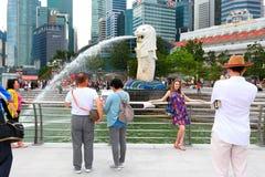 Singapura: Parque de Merlion Imagens de Stock Royalty Free