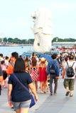 Singapura: Parque de Merlion Imagem de Stock Royalty Free