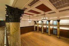 Singapura, Singapura - 18 de julho de 2016: Salão de baile do National Gallery Singapura, antiga câmara municipal de Singapura Foto de Stock