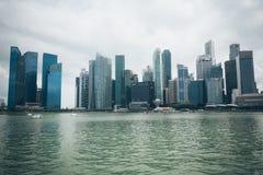 SINGAPURA, SINGAPURA - 16 DE JULHO DE 2015: Vista de Singapura do centro Foto de Stock Royalty Free
