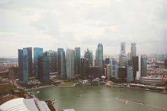 SINGAPURA, SINGAPURA - 16 DE JULHO DE 2015: Vista de Singapura do centro Fotos de Stock