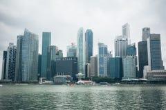 SINGAPURA, SINGAPURA - 16 DE JULHO DE 2015: Vista de Singapura do centro Imagem de Stock Royalty Free