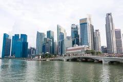 SINGAPURA, SINGAPURA - 17 DE JULHO DE 2015: Vista de Singapura do centro Imagens de Stock Royalty Free