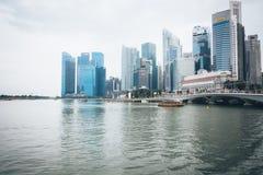SINGAPURA, SINGAPURA - 17 DE JULHO DE 2015: Vista de Singapura do centro Imagens de Stock