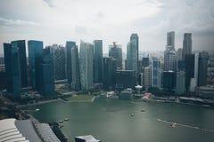 SINGAPURA, SINGAPURA - 16 DE JULHO DE 2015: Vista de Singapura do centro Foto de Stock