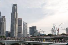 SINGAPURA, SINGAPURA - 17 DE JULHO DE 2015: Vista de Singapura do centro Fotos de Stock