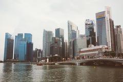 SINGAPURA, SINGAPURA - 17 DE JULHO DE 2015: Vista de Singapura do centro Foto de Stock