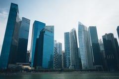 SINGAPURA, SINGAPURA - 16 DE JULHO DE 2015: Vista de Singapura do centro Fotografia de Stock Royalty Free