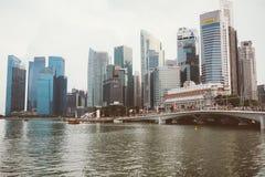 SINGAPURA, SINGAPURA - 17 DE JULHO DE 2015: Vista de Singapura do centro Foto de Stock Royalty Free