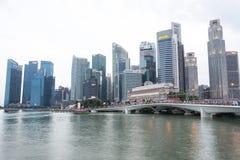 SINGAPURA, SINGAPURA - 17 DE JULHO DE 2015: Vista de Singapura do centro Fotos de Stock Royalty Free