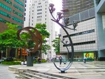 Singapure - 24 décembre 2008 : Les personnes au secteur financier de Singapour Photographie stock