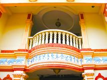 Singapure - December 24, 2008: A colorful balcony at the Residence of Tan Teng Niah, the last remaining Chinese villa Royalty Free Stock Image