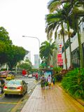 Singapure - 24 December, 2008: De mensen bij het financiële district van Singapore Royalty-vrije Stock Afbeeldingen