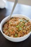 Singapurianischer gebratener Reis Stockfotos