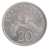 Singapurische Centmünze Stockbild