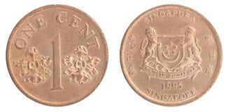 Singapurische Centmünze Lizenzfreies Stockbild