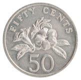 Singapurische Centmünze Stockfotos