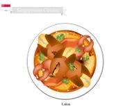 Singapurische Paprika-Krabbe, populärer Teller in Singapur lizenzfreie abbildung
