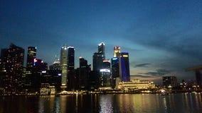 Singapurs Skyline eines Geschäftsbereichs Lizenzfreie Stockfotografie