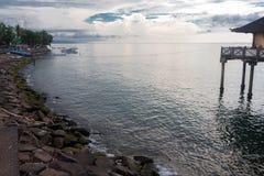 singaraja海岸  免版税图库摄影