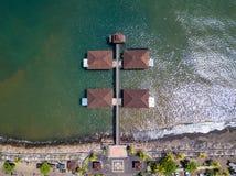 Singaraja码头鸟瞰图在巴厘岛,印度尼西亚 免版税库存图片