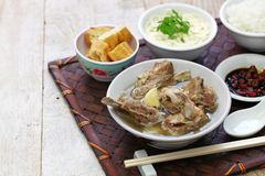 Singare bak kut teh, spicy pork rib soup Stock Photo