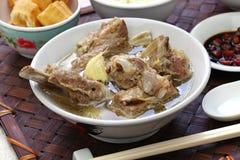 Singare bak kut teh, spicy pork rib soup Stock Image