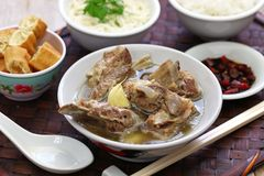 Singare bak kut teh, spicy pork rib soup Royalty Free Stock Photo