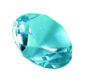 Singe blue crystal diamond Stock Image