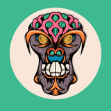Singe Brain Illustration Monster Image libre de droits