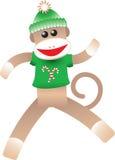 Singe de chaussette de Noël Images stock