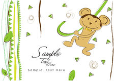 Singe gai de jungle ! Illustration Stock