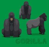 Singe Gorilla Cartoon Vector Illustration Photographie stock libre de droits
