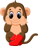 Singe mignon de bande dessinée Photo stock