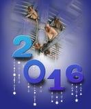Singe - 2016 nouvelles années Photo stock