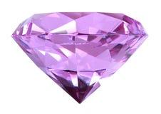 Singe puple crystal diamond. Singe purple crystal diamond. Close-up. Isolated on white background. Studio photography Stock Image