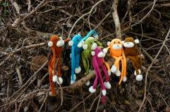 Singe tricoté, symbole, année des singes Image libre de droits