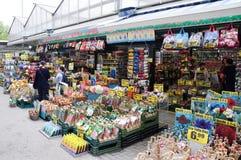 Singel-Blumenmarkt, Amsterdam, die Niederlande Lizenzfreie Stockfotografie