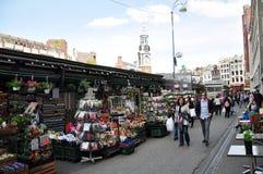 Singel-Blumenmarkt, Amsterdam, die Niederlande Stockfotografie
