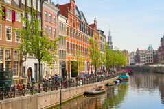 Singel canal, Amsterdam Royalty Free Stock Photography