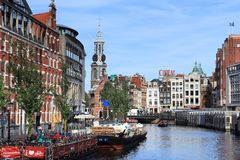 Singel canal, Amsterdam Royalty Free Stock Photos
