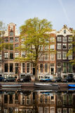 Singel Canal Houses in Amsterdam Royalty Free Stock Image