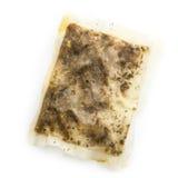 Singel ha usato la bustina di tè bagnata Fotografia Stock