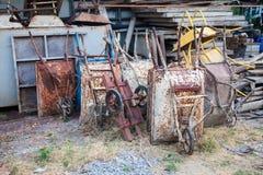 Singel-hjul cementvagn Fotografering för Bildbyråer